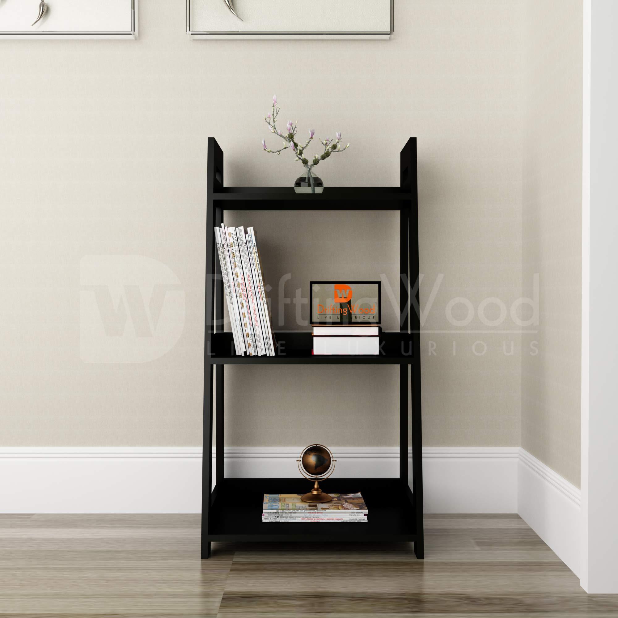 DriftingWood Wooden Furniture 3 Tier Ladder Shelf & Room Organizer Storage  Divider Furniture