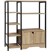 WOLTU RGB08hei Étagère de rangement Bibliothèque avec armoire,Étagère de cuisine Étagère de bureau en métal et MDF…