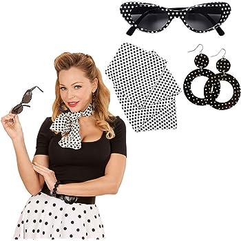 Donna Anni 50 Accessori Costume Set Ragazza Sciarpa Fascia per ... c923a1d6faf