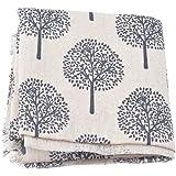 Souarts Textile Tissu Coton Motif Arbre pour DIY Patchwork Artisanat Couture Blond Clair 100cmx50cm 1PC