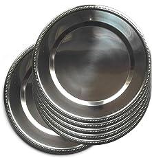 Jpf - Platzteller, rund–Set mit 6Stück–Edelstahl–Silber