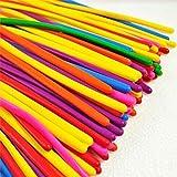 logei® 100pc ballons de baudruche à modeler multicolores magiques, ballon gonflable,Qualatex, pour Anniversaire Mariage Soirée Partie, couleur aléatoire