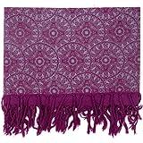 FANTAZIA - Pañuelo de caballete tibetano de mandala morado, talla S a XXXL, 100% algodón, morado, bohemio, cómodo y original,