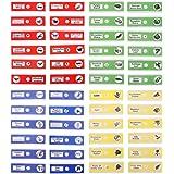 UEETEK 48 Stück Präparierte Objektträger, 4 Farben Biologische Probe Insekten Tiere Pflanzen Probe, Stereomikroskope Objektträger für Kinder Wissenschaftliche Ausbildung für Kinder