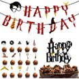 Harry Potter inspiriert Cupcake Toppers BETOY Satz von 17 Zauberer Geburtstag Geburtstag Partydekorationen Geburtstag Banner