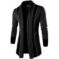 DENIMHOLIC Solid Lapel Collar Slim Fit Full Sleeve Men's Cardigan