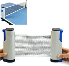 Vinto King Fitness Innovative Retractable Table-Tennis Net With Adjustable Length And Push Clamps (Multicolor)