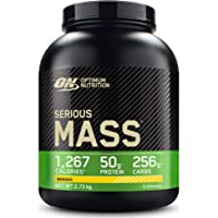 Optimum Nutrition Serious Mass Protein Powder High Calorie Mass Gainer with Vitamins, Creatine and Glutamine, Banana, 8…