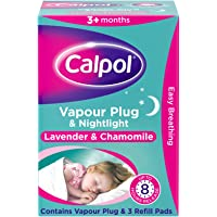 Calpol® Vapour Plug Nightlight Lavender Chamomile 3+ Months, 3 count