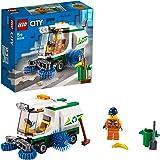 LEGO 60249 City Great Vehicles Straatveegmachine Vuilniswagen met bestuurder, Autosets voor kinderen van 5 jaar en ouder