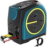DTAPE Medidor Láser (DT10/40M), Medidor de Distancia Láser Digital, Medidor de Distancia Láser Recargable, Medidor de Rango D