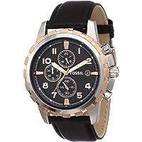 Fossil Dean Chronograph Black Dial Men's Watch-FS4545