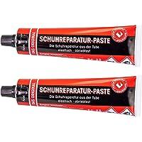 Langlauf Schuhbedarf Colle de réparation pour chaussures -Pack de deux tubes- Pâte Noir Liquide Caoutchouc Haute Qualité…