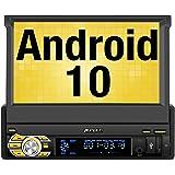 Pumpkin Android 10.0 Autoradio GPS 1 DIN Stéréo de Voiture supporte Bluetooth WiFi 3G USB SD Commande au Volant Radio RDS Dab+ OBD2 avec Ecran Tactile 7 Pouces