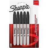Sharpie marqueurs indélébiles   pointe fine   encre noir permanent   Lot de 5