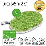Waschies 08240 Kinder Waschpads Baby Waschlappen Mit Feinster Mikrofaser Wiederverwendbare Baby Pflege Tücher Für Sensible Haut 6er-Set