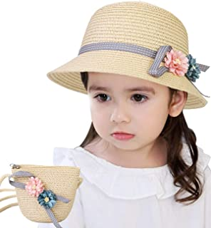 Magracy Baby Kids Girls Straw Hat Summer Sun Protection Hat Foldable Beach Hat