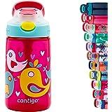 Contigo Gizmo Flip Autospout Kinderwaterfles met klapstro, BPA-vrije drinkfles voor kinderen, lekvrije fles, ideaal voor scho