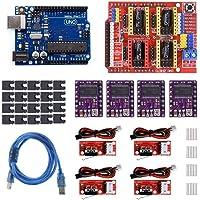 Electrobot Professional 3D Printer CNC Kit for Arduino Uno R3 with CNC Shield V3 + Stepper Motor Driver + Mechanical…