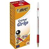 Bic Cristal Grepp Kulpenna - Svart (paket med 4)_förälder Enda Box x 20 Röd