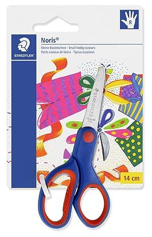 Staedtler Noris 965, Ciseaux droitiers à bouts arrondis, Sécurisés pour les enfants, Étui blister avec 1 paire de ciseaux de 14 cm, 965 14 NBK