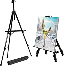 TECHTEST Thick Aluminium Metal Adjustable Height Tripod Display Easel 21-66-inch with Portable Bag