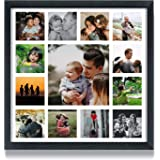 WhatsYourPrint Personalised Photo Collage Frames (Size 13x13 Inches, 13 Photos Black Frame)