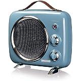 Ariete 808 Chauffage Vintage, Froid et Chaud, Thermostat Réglable, Poignée pour Facile Transport 2000W Bleu
