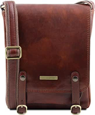 Tuscany Leather Roby Borsello da uomo in pelle con fibbie