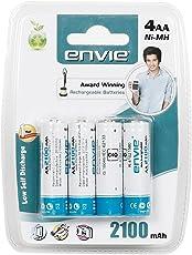Envie Photo_19 4-Piece 2100mAh Ni-Mh Rechargable Battery Set