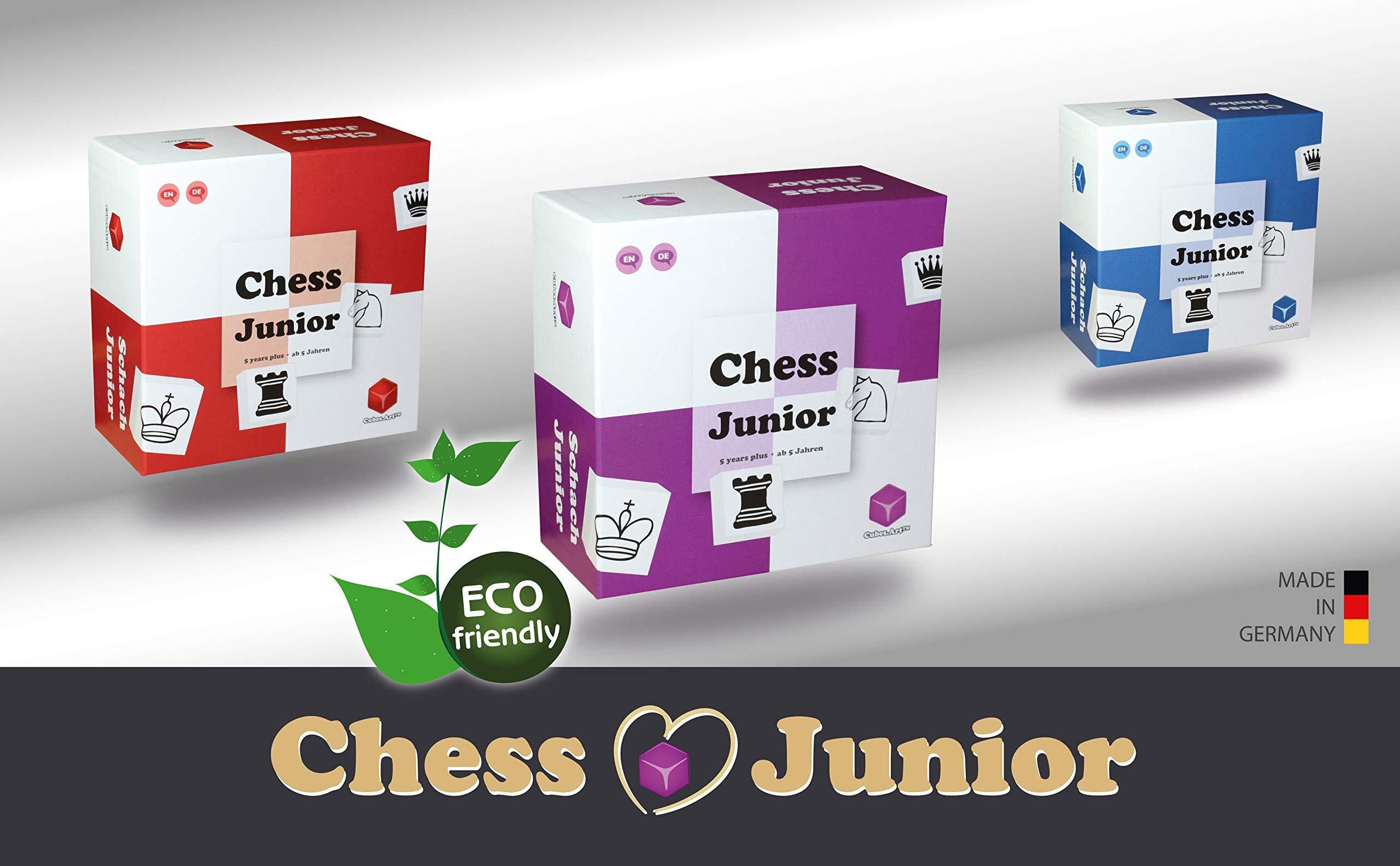 Chess-Junior-Das-Schachspiel-fr-Kinder-nominiert-zum-Besten-Spielzeug-des-Jahres-Violett-deutsch