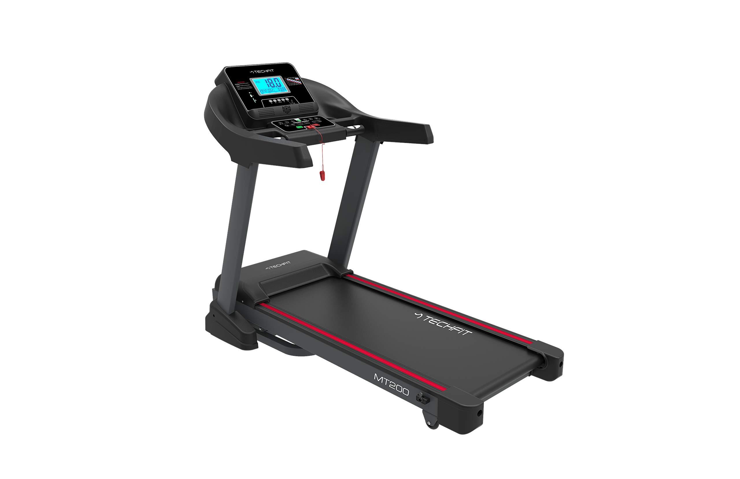 TechFit MT200 Tapis Roulant Professionale, Autolubrificazione, 5.0 HP, Fitness App, Bluetooth, Sistema di Piegatura… 1 spesavip