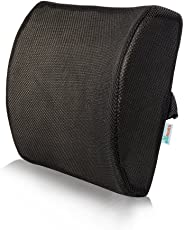 Grin Health Ortho Lower Backrest Support for LowerBack Pain Relief(Black)