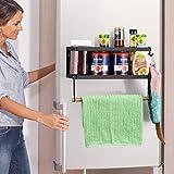 Étagère de rangement pour épices pour réfrigérateur - Porte-serviettes en papier pour organisateur de porte-épices pour réfri
