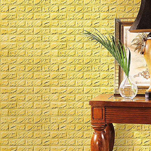 Zegeey Neue 3D Tapete DIY Wandaufkleber Wand Dekor Geprägte Ziegelstein PE Schaum