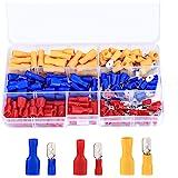 (Rojo, Amarillo, Azul, 150 Piezas)-Juego de Conectores Eléctricos de Crimpado de Cable, Terminales Eléctricos Surtidos, Termi