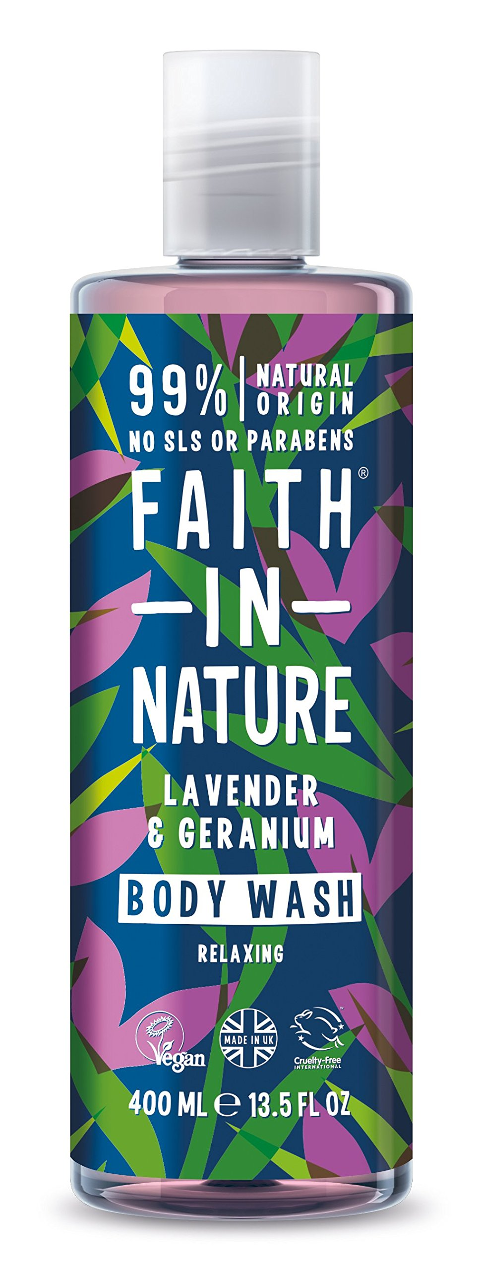 Faith in Nature, Geranium and Lavender Body Wash, 400ml