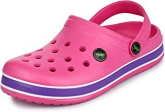 PHEDARUS Girl's Comfortable Clogs