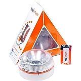 HELP FLASH HFAA-01 Estandar Luz de Emergencia Autónoma Señal V16 de Preseñalización de Peligro, Homologada, Autorizada por la