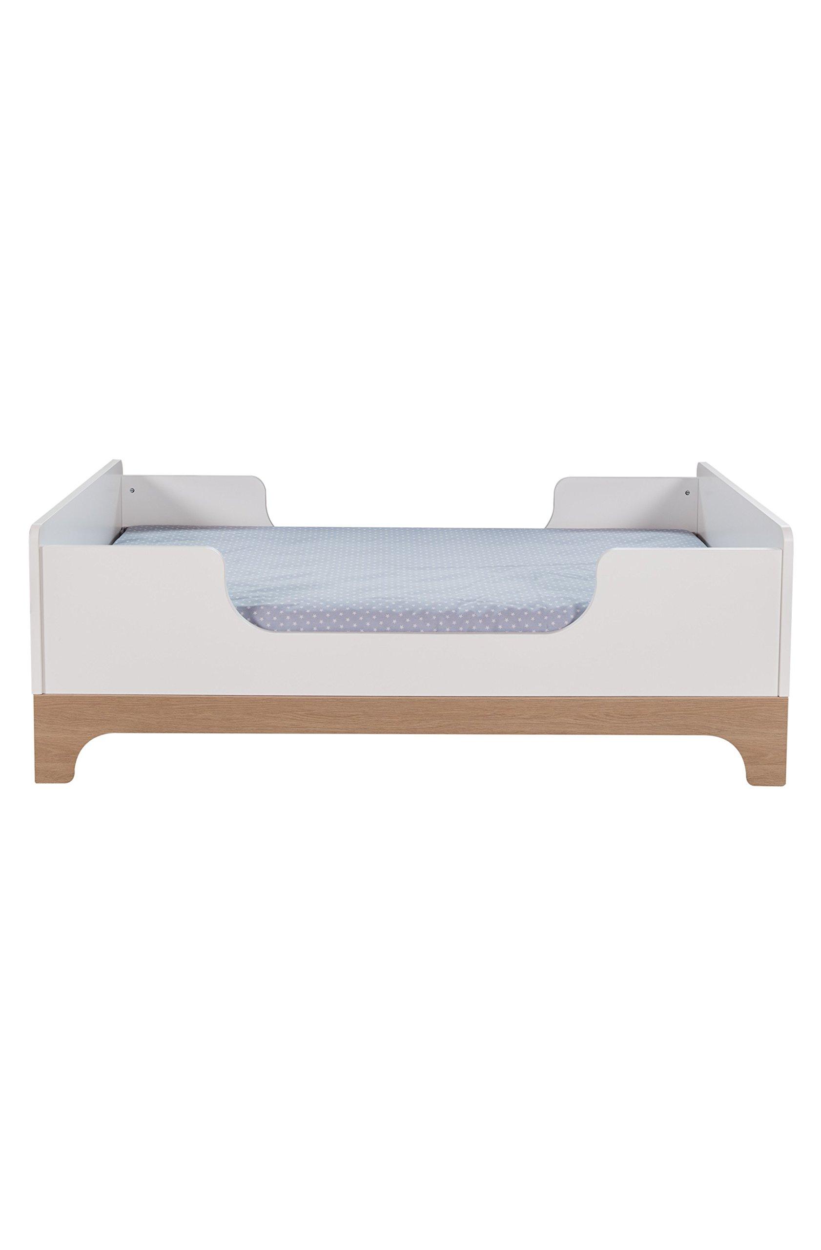 Kadolis Calvi Convertible Bed - 70 x 140 cm Blanco/Madera   3