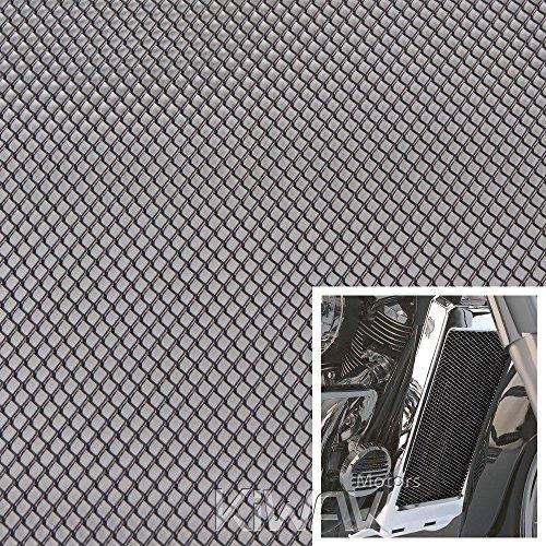 Kühlergrill Rautengitter Alu 20 x 33 cm Waben schwarz Renngitter motorrad