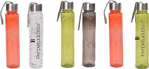 Generic Plastic Perpetual Bliss Fancy Transparent Water Bottle, 500ml (Multicolour) - Pack of 12