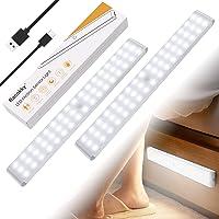 Racokky Réglable 50 LEDs Lampe à Détecteur de Mouvement 4 Modes(Nouveau: Mode avec Détection de Passage en Pleine…
