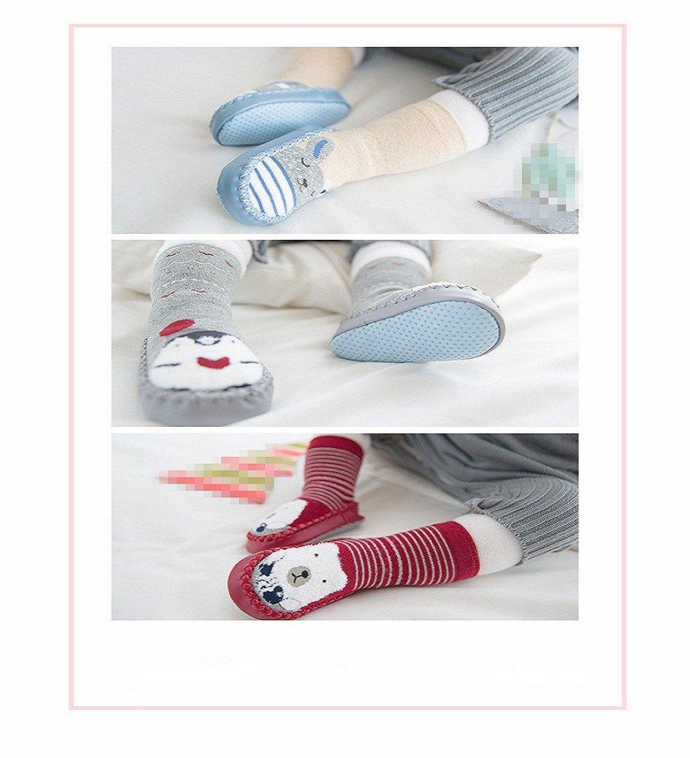 Calcetines de bebé, AMEIDD Calcetines de bebé niña niño Calcetines de algodón Antideslizantes Medias Calientes para… 2