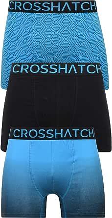 Crosshatch Mens 3 Pack Boxer Shorts Underwear Underpants Trunks Multipack Boxers