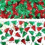 Pangda 4 Sacchetti di Coriandoli Confetti Albero di Natale Confetti Goffrato Coriandoli di Natale