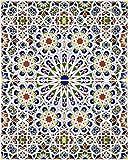 Mattullah - 1m2 Marokkanische Fliesen mit Relief, 8 Keramik Muster Fliesen aus Marokko | Stil: Design Arabisch, wie Zellige, Zement