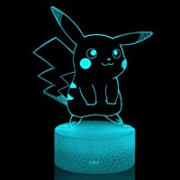 yiwoo 3D Optical Illusion Night Light, Visual Creative LED Desk Lamp Touch Control 7 Color Change USB,3D Animal Night…