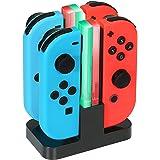 KINGTOP 4 in 1 Ricarica Joy-con per Nintendo Switch, Caricabatterie per Nintendo Switch con Indicatore e Type-C USB…