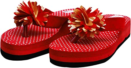 DARLING DEALS Women Flip Flop and Fashion Slippers by Comfortable Heel Colors